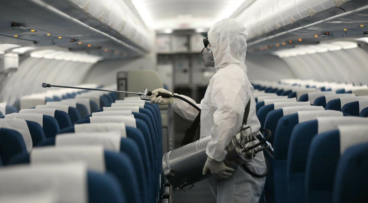 NATIONAL INTERIM GUIDANCE ON AIRCRAFT/AVIATION FACILITIES CLEANING AND DISINFECTION IN RELATION TO THE COVID-19 PANDEMICS. image
